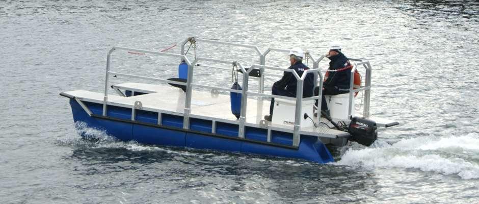 Arbeitsboot Fahrbetrieb